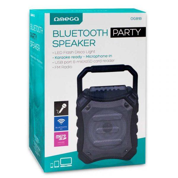 Altavoz Música Universal Bluetooth Marca Omega Party (5W) 4