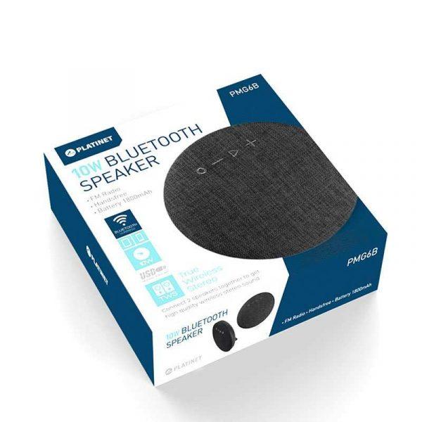 Altavoz Música Universal Bluetooth Marca Platinet Tela TWS (10W) Negro 3