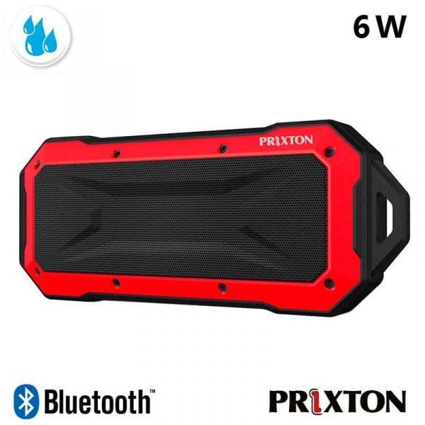 Altavoz Música Universal Bluetooth Marca Prixton Waterproof IP67 Rojo (6W) 1