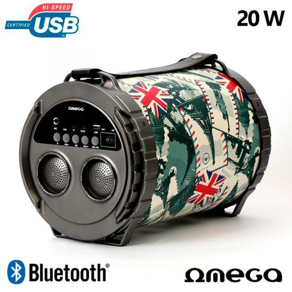 altavoz musica universal bluetooth omega bazooka 20w 2