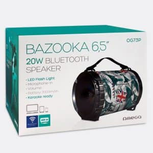 altavoz musica universal bluetooth omega bazooka 20w2