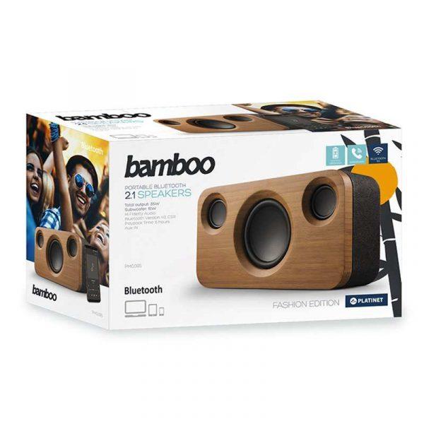 Altavoz Música Universal Bluetooth Platinet Fashion Edition Bamboo (35W) 3