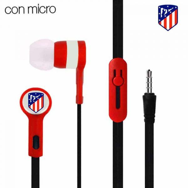 Auriculares 3,5 mm Stereo Licencia Fútbol Atlético de Madrid 1