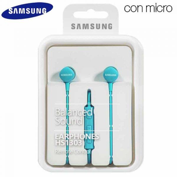 auriculares 35 mm universal original samsung azul jack 35mm con blister 1