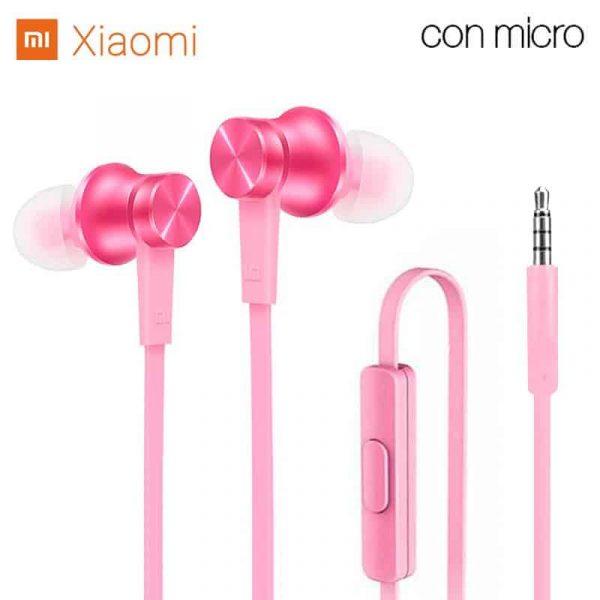 auriculares 35 mm universal original xiaomi jack 35 mm rosa con blister 1