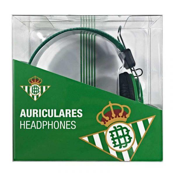 auriculares cascos jack 35 mm licencia futbol real betis