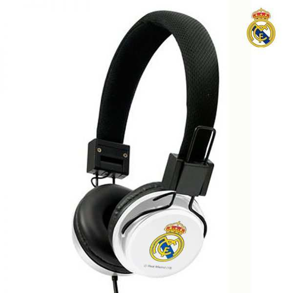 auriculares cascos jack 35 mm licencia futbol real madrid cf