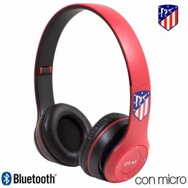 auriculares stereo bluetooth cascos licencia futbol atletico de madrid 1