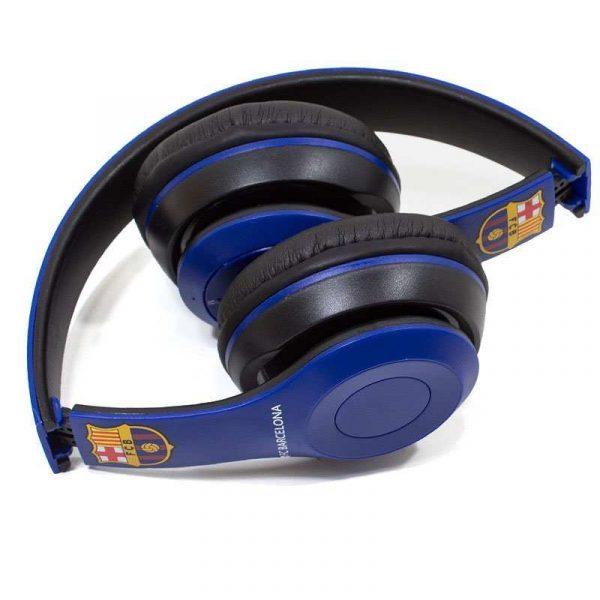 auriculares stereo bluetooth cascos licencia futbol fc barcelona 1