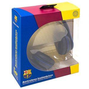 auriculares stereo bluetooth cascos licencia futbol fc barcelona