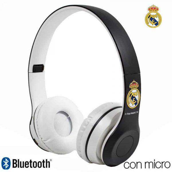 auriculares stereo bluetooth cascos licencia futbol real madrid cf 2