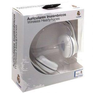 auriculares stereo bluetooth cascos licencia futbol real madrid cf