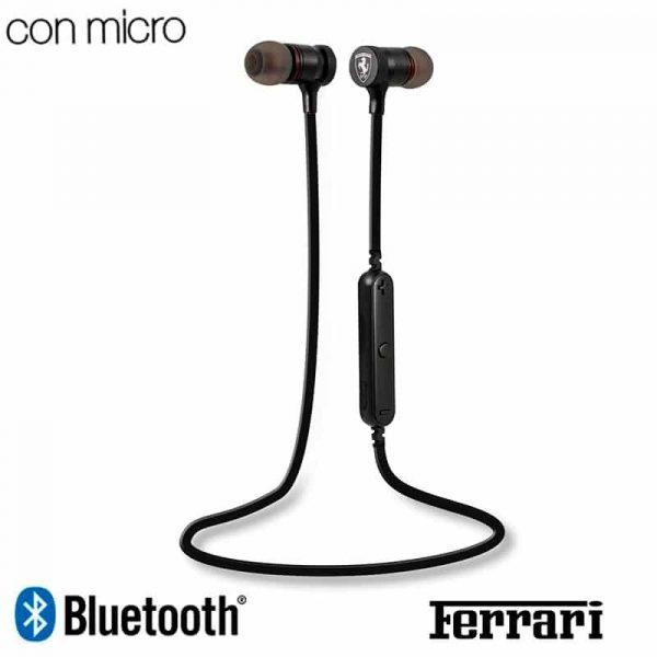 Auriculares Stereo Bluetooth Deportivos Universal Licencia Ferrari Negro 1