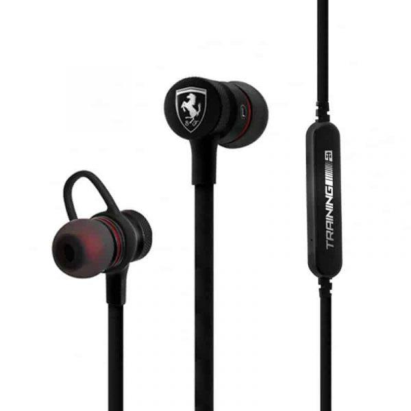 Auriculares Stereo Bluetooth Deportivos Universal Licencia Ferrari Negro 2