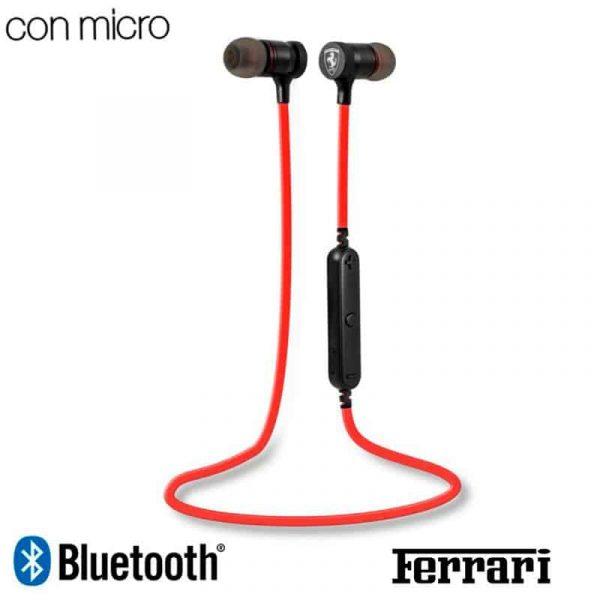 auriculares stereo bluetooth deportivos universal licencia ferrari rojo 1