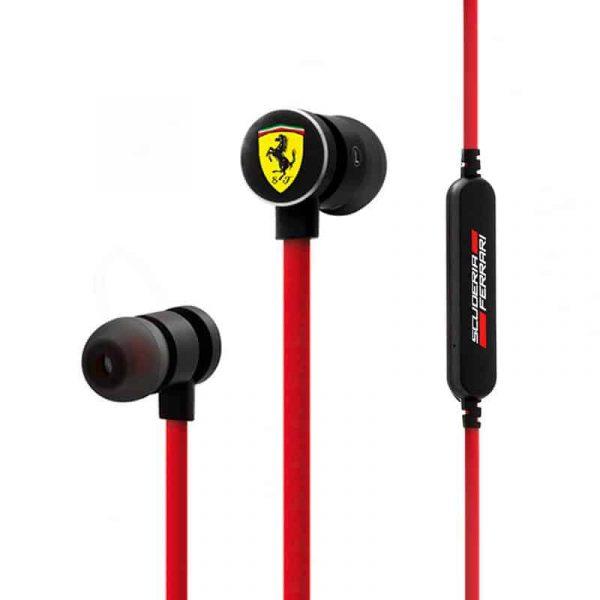 auriculares stereo bluetooth deportivos universal licencia ferrari rojo2