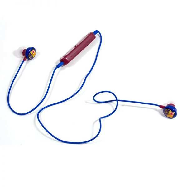 auriculares stereo bluetooth deportivos universal licencia futbol fc barcelona