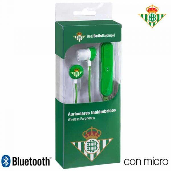 auriculares stereo bluetooth deportivos universal licencia futbol real betis 1