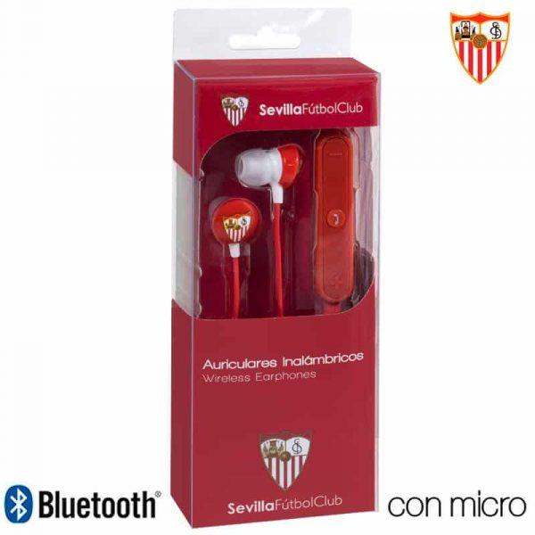auriculares stereo bluetooth deportivos universal licencia futbol sevilla cf 1