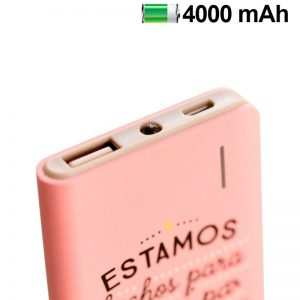 bateria externa micro usb power bank 4000 mah licencia mr wonderful rosa