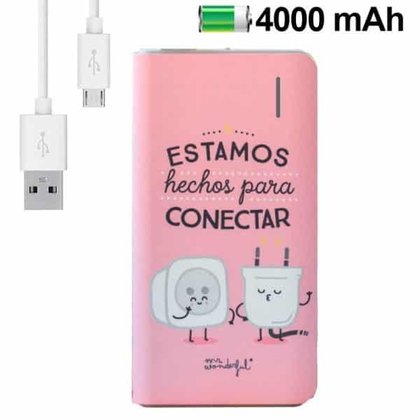 bateria externa micro usb power bank 4000 mah licencia mr wonderful rosa2