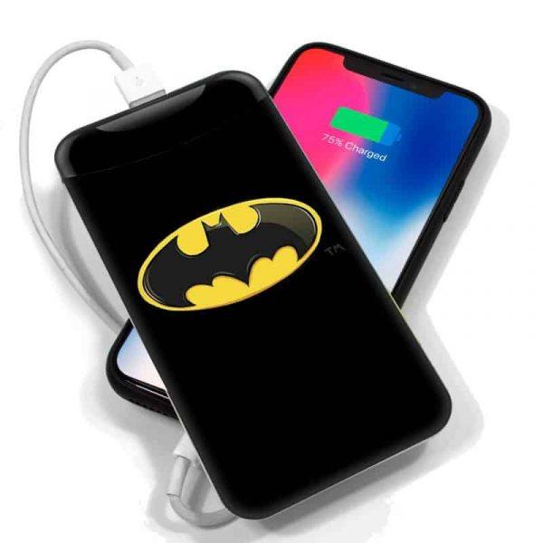 bateria externa micro usb power bank 6000 mah licencia dc batman 2