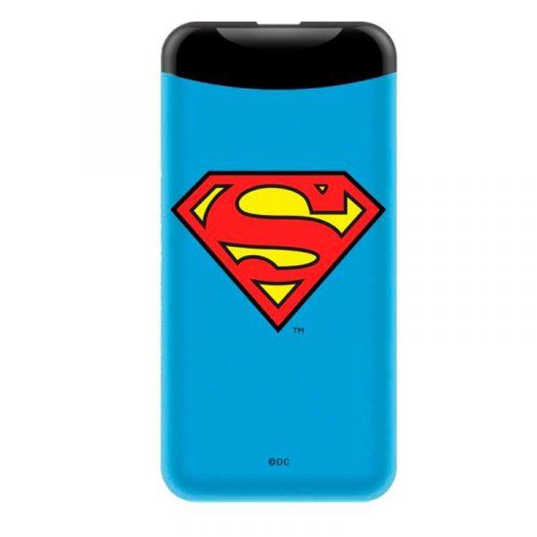 bateria externa micro usb power bank 6000 mah licencia dc superman 1