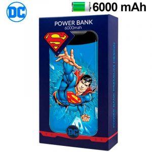 bateria externa micro usb power bank 6000 mah licencia dc superman 2