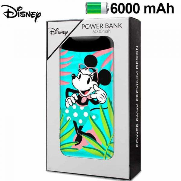 Bateria Externa Micro-usb Power Bank 6000 mAh Licencia Disney Minnie Flores 1