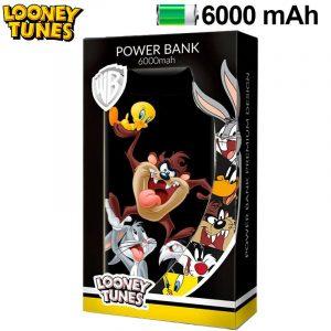 bateria externa micro usb power bank 6000 mah licencia looney tunes 2