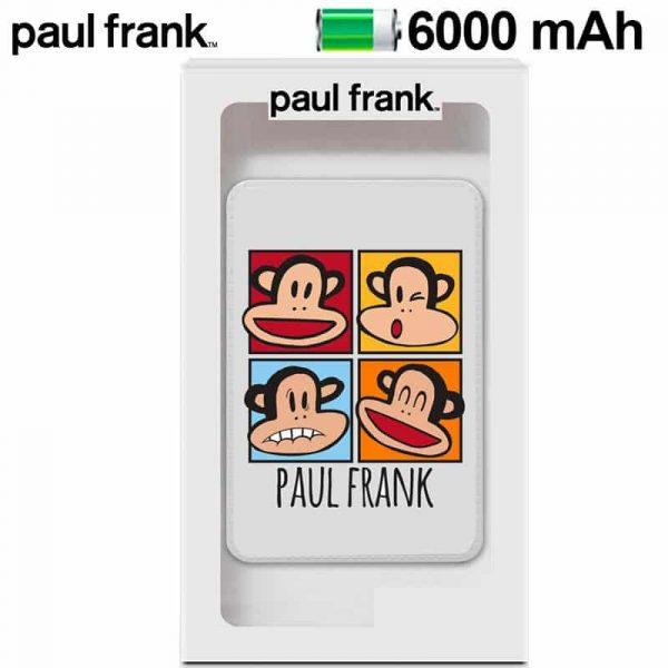 bateria externa micro usb power bank 6000 mah licencia paul frank 2