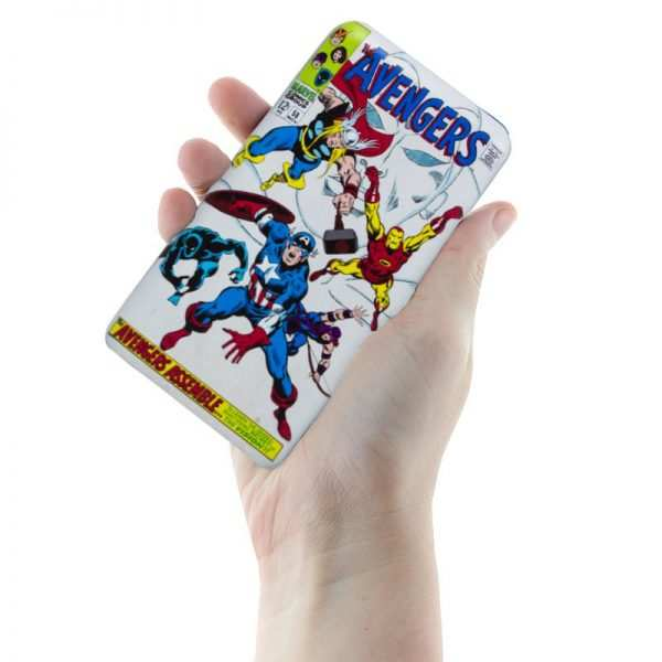 bateria externa micro usb power bank 8000 mah universal licencia marvel avengers