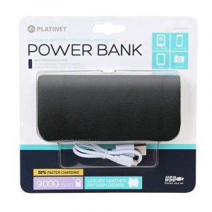 Bateria Externa Micro-usb Power Bank 9000 mAh Platinet Polipiel Negra 3
