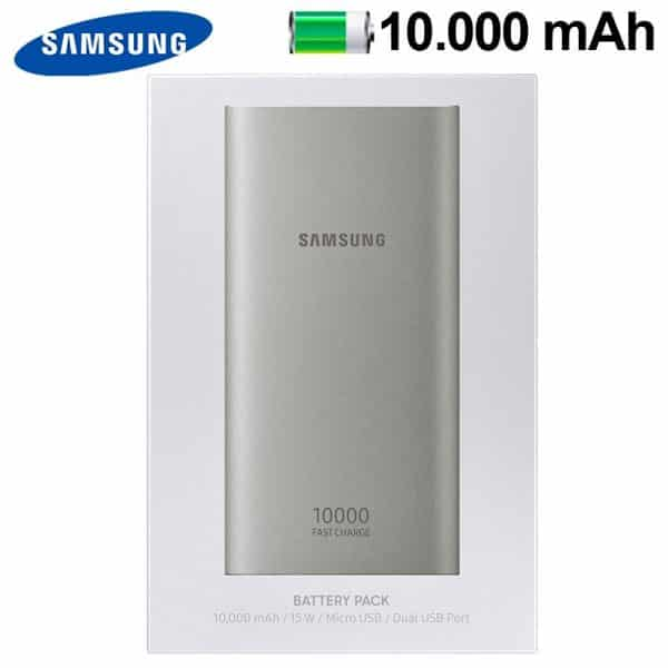 bateria externa universal power bank 10000 mah original samsung plata