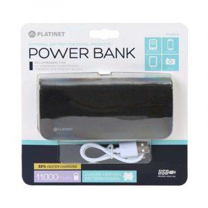 bateria externa universal power bank 11000 mah platinet polipiel negra