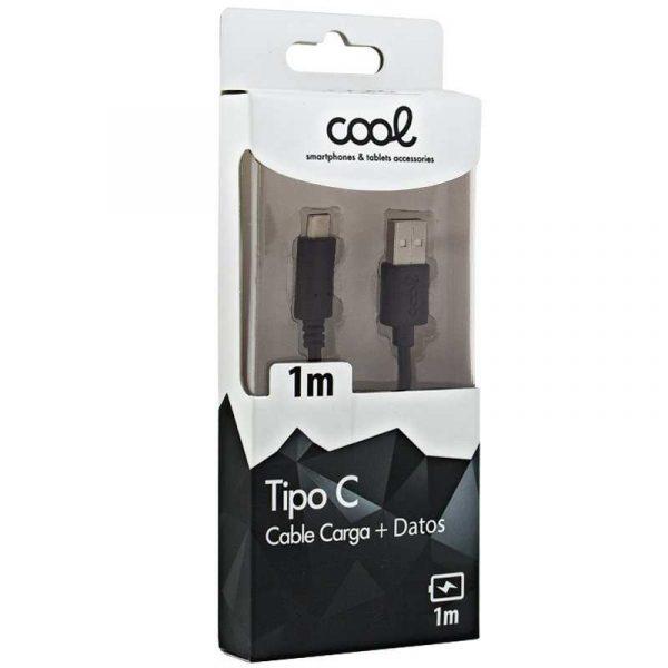 cable usb compatible universal tipo c 1 metro negro 1