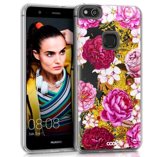 Carcasa Huawei P10 Lite Glitter Flores 1