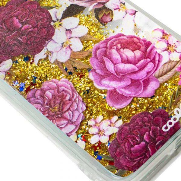 Carcasa Huawei P10 Lite Glitter Flores 2