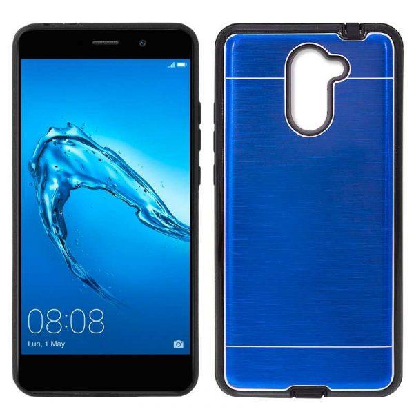 Carcasa Huawei Y7 Aluminio Azul 1