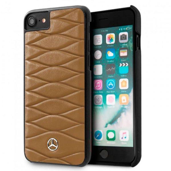 carcasa iphone 6 6s licencia mercedes benz piel marron2