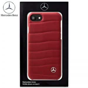 Carcasa iPhone 6 / 6s Licencia Mercedes-Benz Piel Rojo 3