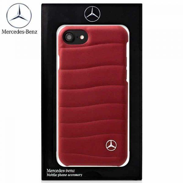 Carcasa iPhone 6 / 6s Licencia Mercedes-Benz Piel Rojo 2