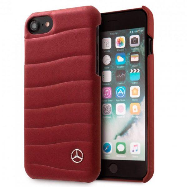 Carcasa iPhone 6 / 6s Licencia Mercedes-Benz Piel Rojo 1