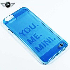 carcasa iphone 6 6s licencia mini cooper letras azul