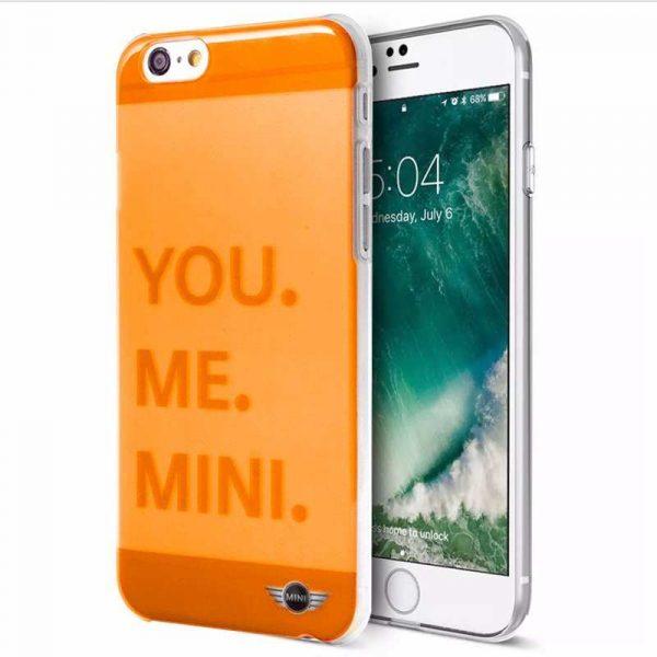 carcasa iphone 6 6s licencia mini cooper letras naranja 1