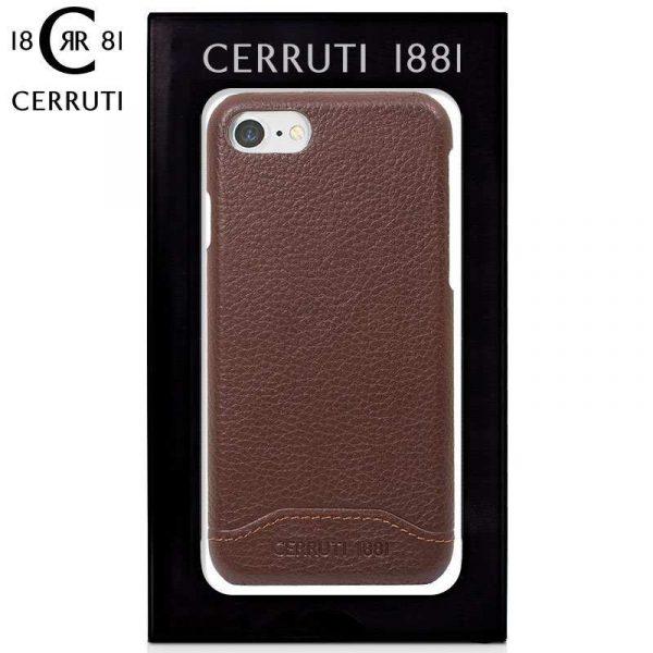 carcasa iphone 7 iphone 8 licencia cerruti piel marron 1