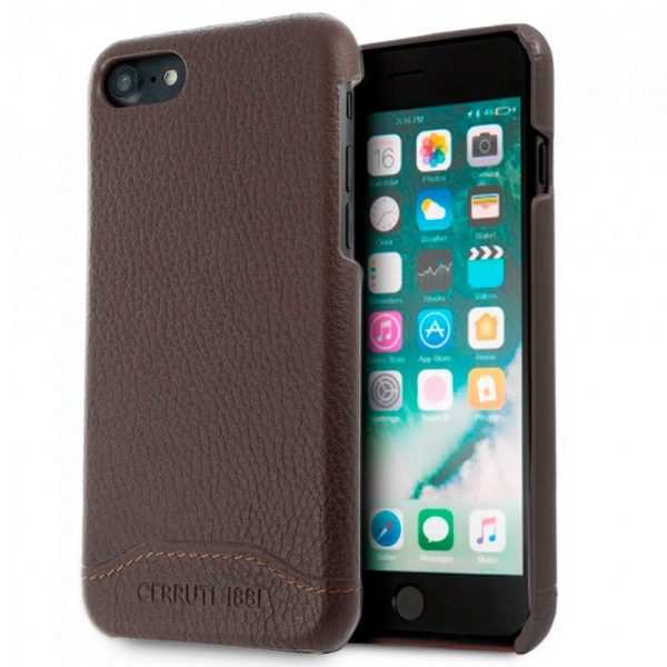 carcasa iphone 7 iphone 8 licencia cerruti piel marron