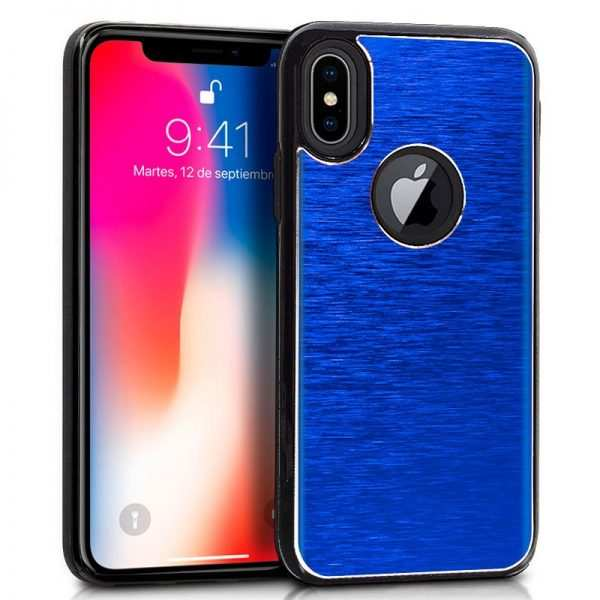 carcasa iphone x iphone xs aluminio azul 1