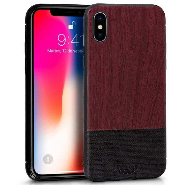 carcasa iphone x iphone xs dibujos madera caoba 1