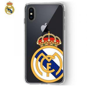 Carcasa iPhone X / iPhone XS Licencia Fútbol Real Madrid Transparente Escudo 3